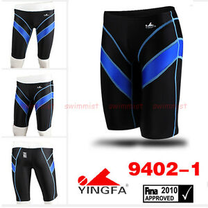 YINGFA 9402 MEN'S RACING TRAINING SWIMMING TRUNKS JAMMERS ALL SIZE FINA APPROVED