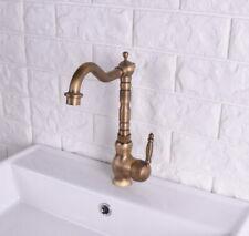 Antique Brass Bathroom & Kitchen Faucet Swivel Single Handle Mixer Tap Lsf118