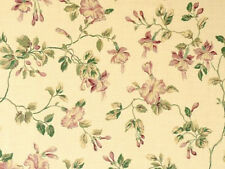 WALLPAPER SAMPLE Waverly Fuchsia Floral on Golden Tan