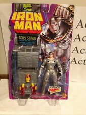 Marvel Comics Iron Man Tony Stark w/ Armor Carrying Suitcase MOC Toy-Biz