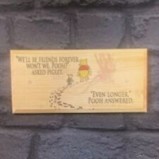 Friends Forever Plaque / Sign / Gift Winnie The Pooh - Plaque Kids Quote Room 30