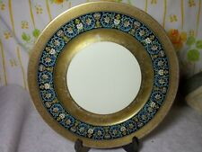 """ROSENTHAL  IVORY GOLD ENCRUSTED  DINNER PLATE 11"""" GERMANY. SIgn"""