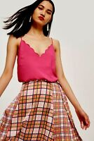 $30 NWOT TOPSHOP WOMENS PINK SCALLOPED CAMISOLE TOP SIZE 4