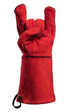 FEUERMEISTER Grillhandschuhe aus Leder rot, 1 Paar, Gr. 10