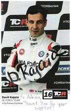 Davit Kajaia (WTCR) SIGNED Alfa Romeo Guilietta promo card