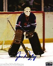 "Joe Daley - Winnipeg Jet 8"" by 10"" Autographed Photograph with Vintage Mask"