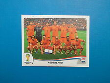 Panini World Cup Brasil 2014 n.128 Team Nederland