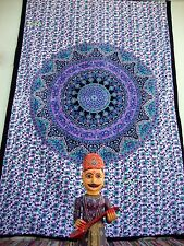 Indian Tapestry Wall Hanging Mandala Throw Hippie Bedspread Gypsy Twin Blanket.