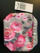 Lesportsac Rectangular Travel Cosmetic Bag Night Blooms Floral case new w tags