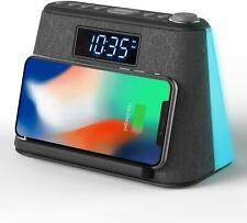 Alarm Clock Bedside Non Ticking Lcd Alarm Clock With Usb Charger Wireless Qi C