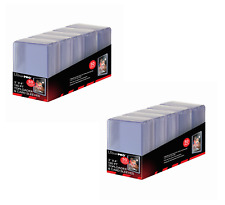 (100 Count) Ultra Pro Super Thick 130pt Toploader Card Holders Plus Free Sleeves