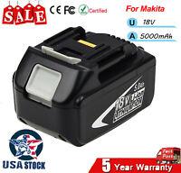 1PC for Makita 18V LXT Max 5.0Ah Lithium Battery BL1850B-2 BL1860 Genuine Tools