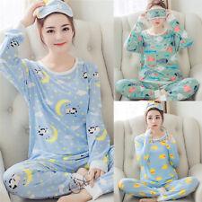 Mujeres pijama de algodón conjuntos de ropa de dormir pijamas de manga larga