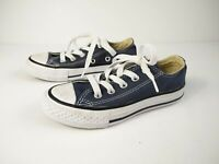 UNISEX CONVERSE ALL STAR UK 10 EU 27 BLUE LACE UP LOW TOP TRAINERS SNEAKERS KIDS