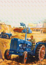Fordson Vintage Tractor  - Poster (A3)