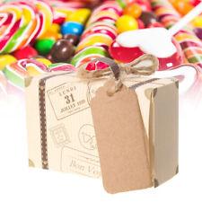 50/100Pcs Mini Suitcase Candy Boxes Wedding Birthday Party Decor Favours
