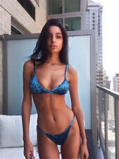 Sexy Ladies Bikini Set Bandage Push-Up Padded Bra Swimwear Swimsuit Bathing Y948