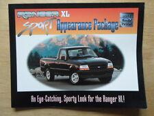 FORD RANGER XL Sport Appearance Package orig 1995 USA Mkt sales brochure