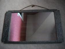 miroir très ancien 18/19e siècle, entourage bois sculpté, bon état pour son âge
