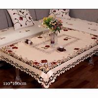 Weiß Stickerei Spitze Tischdecke Deckchen Mitteldecke Hochzeit Party Deko Blumen