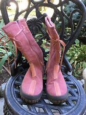 NWT Naturino Sterling, Women's Tall Waterproof Boot, Zipper, Pink, Lined, EU 38