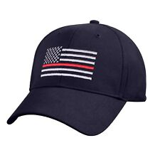 Thin RED Line USA Flag Ball Cap Fire Fighter Support Volunteer Fireman Hat BLUE