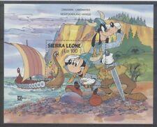 DISNEY Sierra Leone 1 bloc de 1987 ** MICKEY VIKING