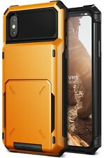VRS Design Damda Folder Wallet Case for iPhone X - Volcano Yellow