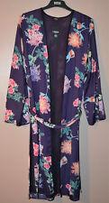 LADIES M&S KIMONO DRESSING GOWN ROBE SIZE 8 FLORAL - PURPLE MIX - BNWT