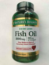 Nature's Bounty Fish Oil Omega-3 1000 mg ( 220 Coated Softgels ) EXP07/2021 Hear