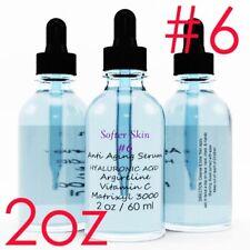 #6 2 OZ 100% Pure Hyaluronic Acid with Vitamin C  Argireline & Matrixyl 3000