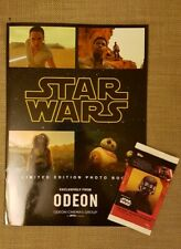 Star Wars The Rise Of Skywalker Odeon Exclusive Photo Book Free Trading Cards.