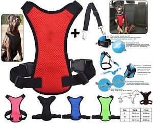 Pet Breathable Air Double Mesh Dog Car Seat Belt Safety Puppy Harness Clip Lead