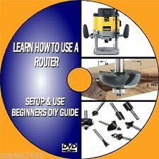 HOW TO USE A ROUTER STEP BY STEP BEGINNERS TUTORIAL TO WOODWORK ROUTING NEW DVD
