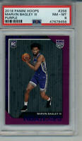 2018-19 HOOPS PURPLE PSA 8 GRADED ROOKIE CARD #258 MARVIN BAGLEY KINGS