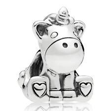 PANDORA Charm Element 797609 Unicorn Einhorn Silber