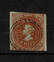 Chile SC# 7 Used / Strong Wmk - S7356