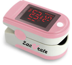 Zacurate Pro Series Pink Fingertip Pulse Oximeter Blood Oxygen Monitor O2 Meter