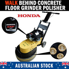 Walk Behind Concrete Floor Grinder Polisher Honda Powered 3 Diamond Disks