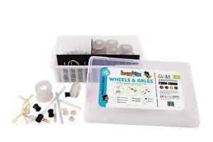 196 pc Brackitz: Wheels & Axles STEM Learning Toys Teaching Kids Homeschool
