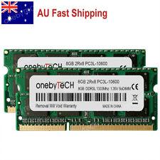 AU 16GB 2X8GB PC3L-10600 DDR3 1333 204 pin Laptop Memory For Dell Hp IBM Lenovo
