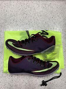 Nike Zoom 400 Track Spikes AA1205-500 Men's US 6 Woman US 8 Burgundy NEW $110