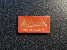 boite de 10 lames de rasoir marque Péroni RARE