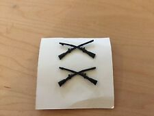 vietnam, infantry officer's insignia metal subdued,nos,1969,set of 2