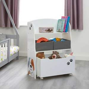 Kids Cat and Dog Storage Unit with Roll-Out Toy Box