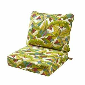 Greendale Lounge Chair Cushion 2-Piece Reversible Stain Resistant Polyester