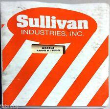 Sullivan Industries Operator'S Manual And Parts List Models 1300Q & 1600Q