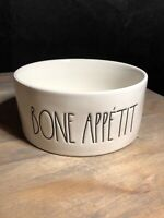 "Rae Dunn By Magenta Collection Bone Appetit Dog Bowl 6"" Farmhouse Style Large"