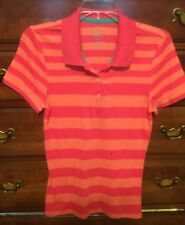 Old Navy Striped Polo Shirt Fitted Large