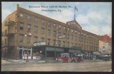 POSTCARD PHILADELPHIA PA/PENNSYLVANIA KEYSTONE HOTEL & SURPLUS TOOL STORE 1907